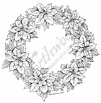 PP7163 Poinsettia Wreath