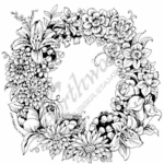 PP7347 Spring Floral Wreath
