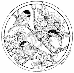 PP7427 Circle Spring Chickadees
