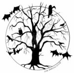 PP7532 Haunted Tree In Circle