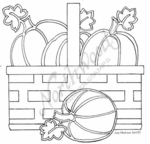 PP7614 Stained Glass Pumpkins In Basket