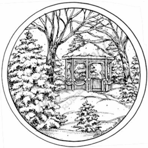 PP7697 Snowy Gazebo Circle