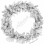 PP7731 Pine, Leaves And Berry Wreath