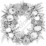 PP8202 Grape And Pumpkin Wreath