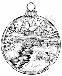 PP8374 Winter Scene Ornament