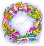 PP8463 Easter Egg And Flower Wreath