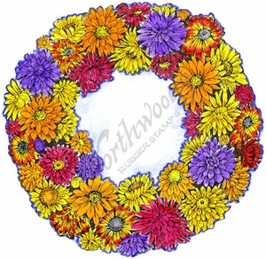 PP8711 Mum And Strawflower Wreath