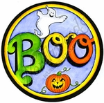 PP8740 Circle BOO With Pumpkin And Ghost