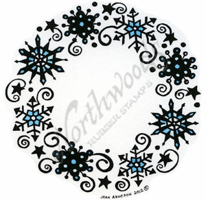 PP8772 Solid Snowflake Wreath