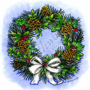 PP8783 Winter Wreath With Pine Cones