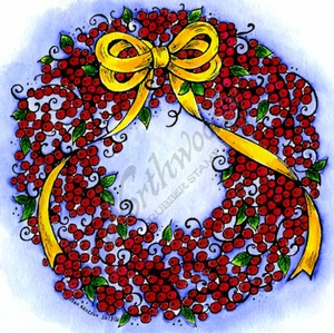 PP9242 Berry And Leaf Wreath