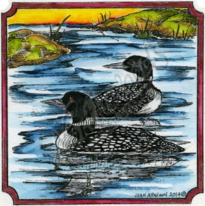 PP9507 Northwoods Limited Edition 20th Anniversary Loon Stamp