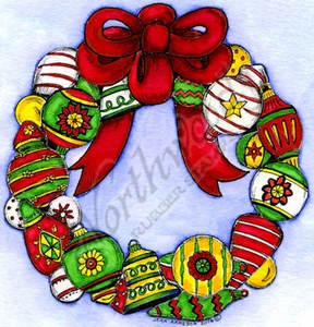 PP9656 Large Ornament Wreath