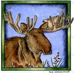 PP9978 Moose In Square Frame