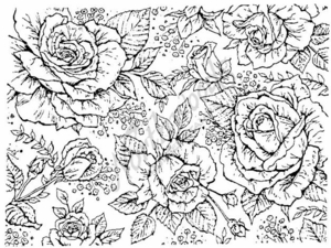 R1225 Rose Background Block