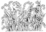 R1361 Lily Of The Valley Background Block