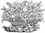 R1371 Lily, Daffodil and Tulip Basket
