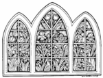 R1398 Pat's Floral Stained Glass