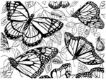 R1501 Butterfly Background Block