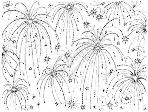R1505 Fireworks Background Block