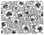 R1510 Pansy Background Block