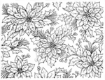 R1997 Poinsettia Background Block