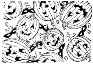 R2766 Jack O' Lantern Background Block