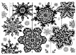 R2951 Solid Snowflake Background Block