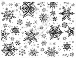R2999 Small Snowflake Background Block