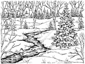 R3836 Christmas Tree and Creek