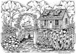 R4311 Spring Country Cottage With Trellis
