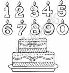 S1063 Birthday Candle and Cake Set