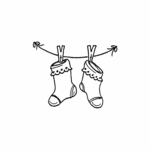 Socks with Clothespins - C10428