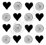 CC9383 Solid Heart And Swirl Background