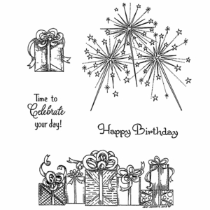 Sparklers & Presents Cling Mount Stamp Set