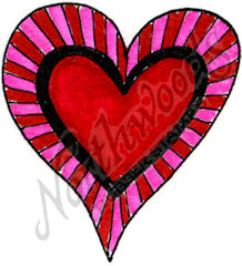 E9376 Stripe~Framed Heart