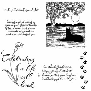 Sympathy Cling Mounted Stamp Set