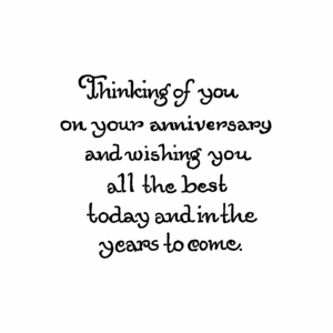 Thinking Of You On Your Anniversary - CC10441