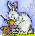 B9417 Tiny Painting Bunny