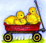 M9420 Two Ducks In Wagon