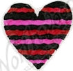 B9392 Wavy~Striped Heart