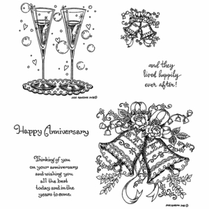 Wedding Bells & Flutes Cling Mounted Stamp Set