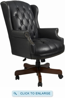 Boss Button Tufted Traditional Wingback Office Chair [B800]