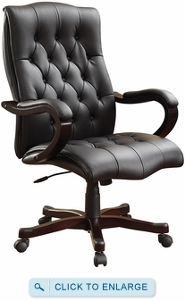 Dixon Eco Leather Tufted Traditional Chair [BP-DXTX]