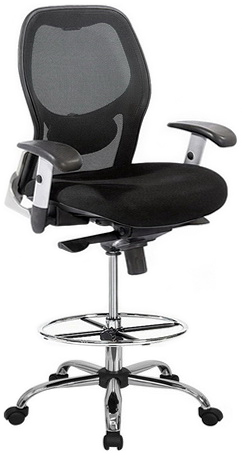 Harwick Deluxe Chrome Mesh Drafting Stool [3052D]  sc 1 st  Direct Office Chairs : office chairs stools - islam-shia.org