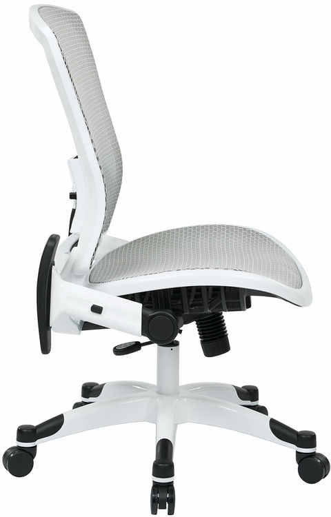 office star white mesh office chair - 317w-w11c1f2w