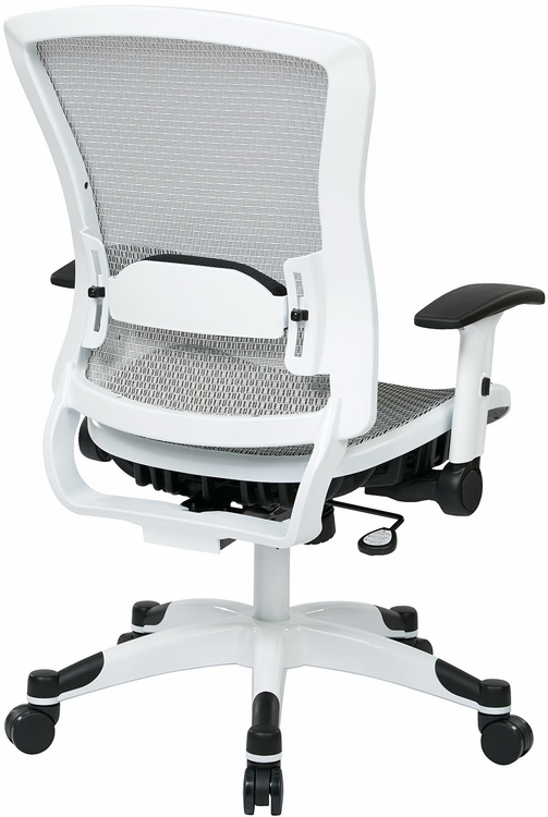 Office Star Chairs office star white mesh office chair - 317w-w11c1f2w