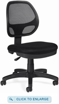 offices to go armless mesh task chair 11642. Black Bedroom Furniture Sets. Home Design Ideas
