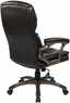 Plush Leather Padded Office Executive Chair [ECH92301]