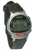 12 Alarm CADEX SILVER Medication Reminder and ALERT Watch (952431)